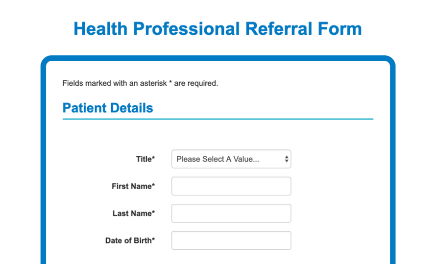 iaptus online health professional referral form